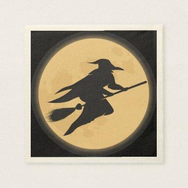 Halloween Themed Vintage Halloween Silhouette Design Paper Napkin