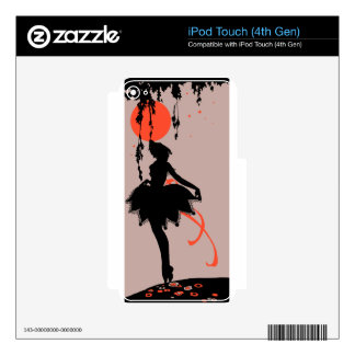 Vintage Halloween Silhouette Woman iPod Touch 4G Decal