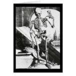 Vintage Halloween Skeleton Card Greeting Card