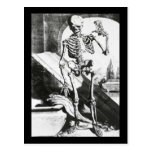 Vintage Halloween Skeleton Card Postcards