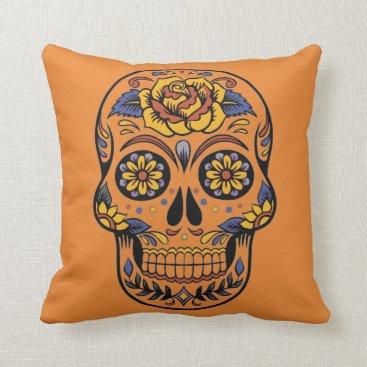 Halloween Themed Vintage Halloween Skull Throw Pillow