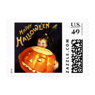 Vintage Halloween Small Postage