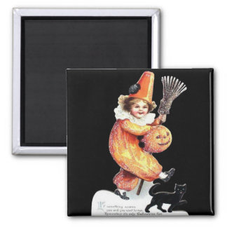 Vintage Halloween Sparkling Costume Party 2 Inch Square Magnet