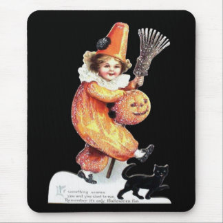 Vintage Halloween Sparkling Costume Party Mouse Pad
