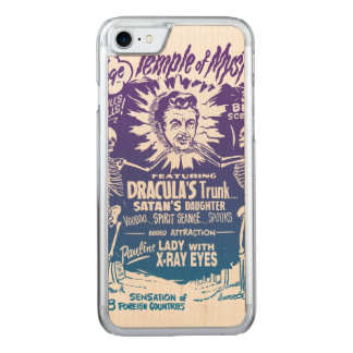 Vintage Halloween Spook Show Temple of Mystery Carved iPhone 8/7 Case