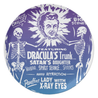 Vintage Halloween Spook Show Temple of Mystery Dinner Plate