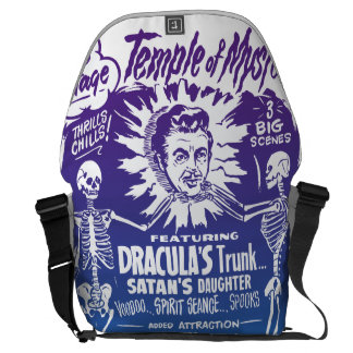 Vintage Halloween Spook Show Temple of Mystery Messenger Bag