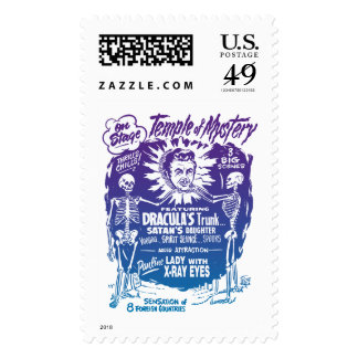 Vintage Halloween Spook Show Temple of Mystery Postage