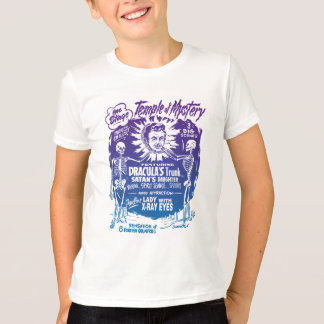 Vintage Halloween Spook Show Temple of Mystery T-Shirt