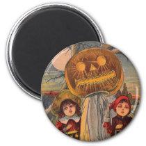 Vintage Halloween Spooky Children Funny Magnet