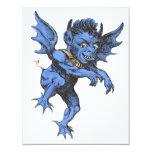 Vintage Halloween Spooky Evil Gargoyle Demon Personalized Invitations