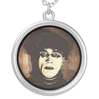 VIntage Halloween Spooky Ghoul Round Pendant Necklace