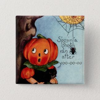 Vintage Halloween Square Button