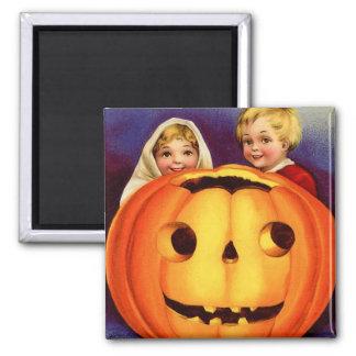 Vintage Halloween Square Magnet
