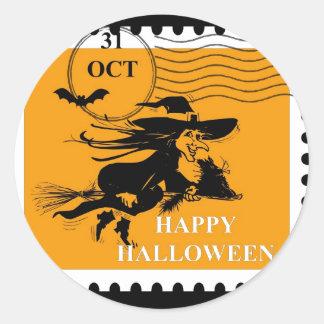 Vintage Halloween Stamp Sticker