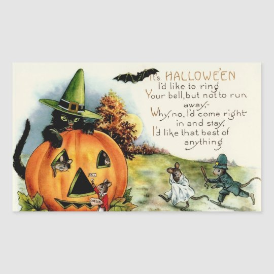 Vintage Halloween Stickers - Trick or Treat