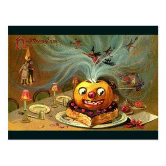 Vintage Halloween Table Postcards
