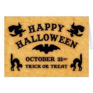 Vintage Halloween Talking Board Greeting Card
