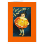 Vintage Halloween Tarjeta