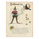 Vintage Halloween Tarjeta Postal