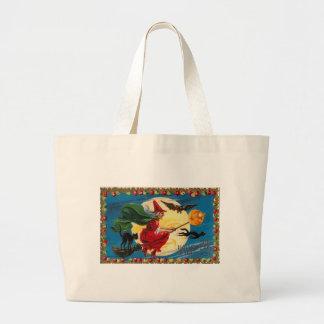 Vintage - Halloween - The Halloween Spirit Jumbo Tote Bag