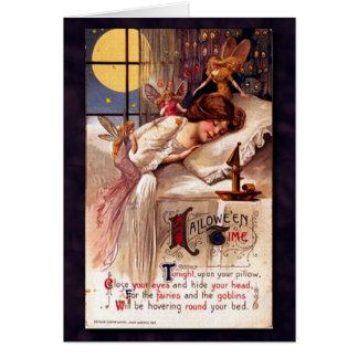 Vintage Halloween Time Greeting Card