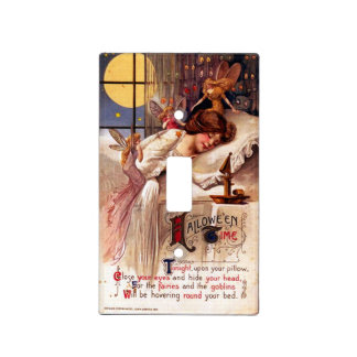Vintage Halloween Time Light Switch Cover