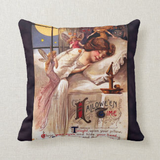 Vintage Halloween Time Throw Pillow