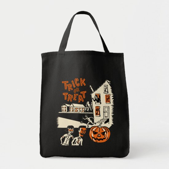 Vintage Halloween Trick or Treat Bag