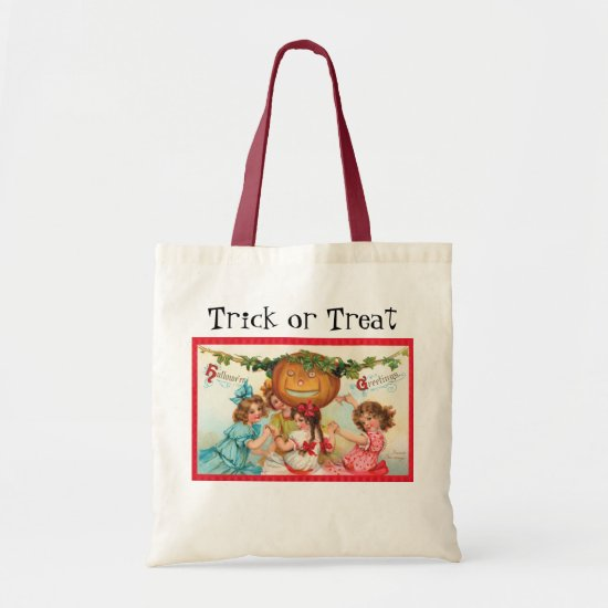 Vintage Halloween Trick or Treat bags! Tote Bag