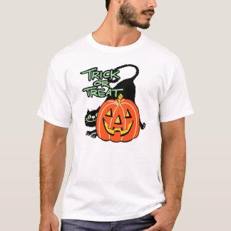 Vintage Halloween Trick or Treat Black Cat Shirt