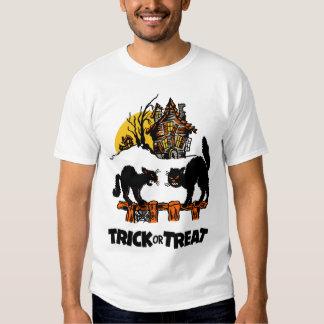 Vintage Halloween - Trick or Treat Black Cats Tee