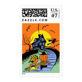 Vintage Halloween Trick or Treat Postage