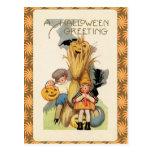 Vintage Halloween Trick or Treaters Postcard
