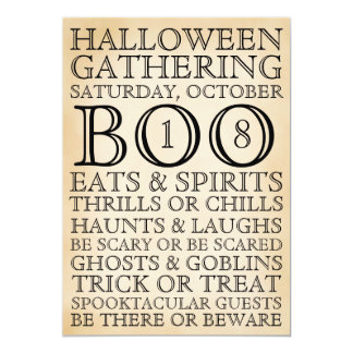Vintage Halloween Typography Party Invitation