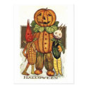 Vintage Halloween Veggies Post Card