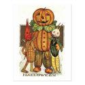 Vintage Halloween Veggies Post Card