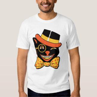Vintage Halloween Winking Black Cat Shirt