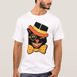 Vintage Halloween Winking Black Cat Shirt