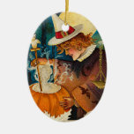 Vintage Halloween Witch Christmas Tree Ornaments