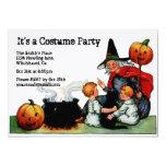 Vintage Halloween Witch Invitation