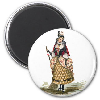 Vintage Halloween Witch Magnet