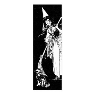 Vintage Halloween Witch Mini Business Card