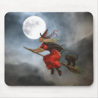 Vintage Halloween Witch Mousepad