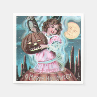 Vintage Halloween Witch paper napkin