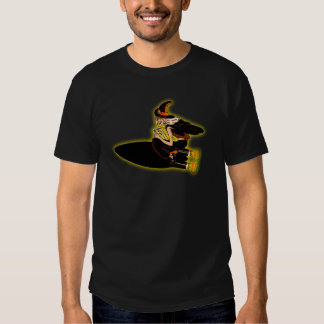 Vintage Halloween Witch Riding a Rocket! T Shirts