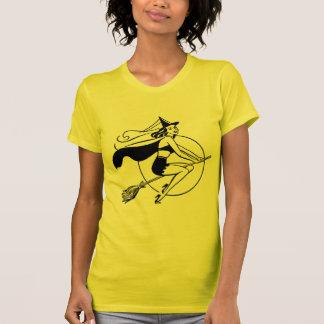 Vintage Halloween Witch T Shirt