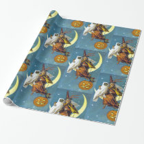 Vintage Halloween Witch Wrapping Paper