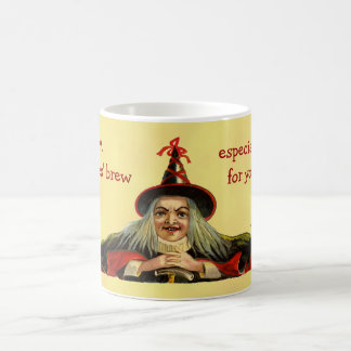Vintage Halloween Witches' Brew Mo... Coffee Mugs