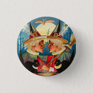 Vintage Halloween Witches Button